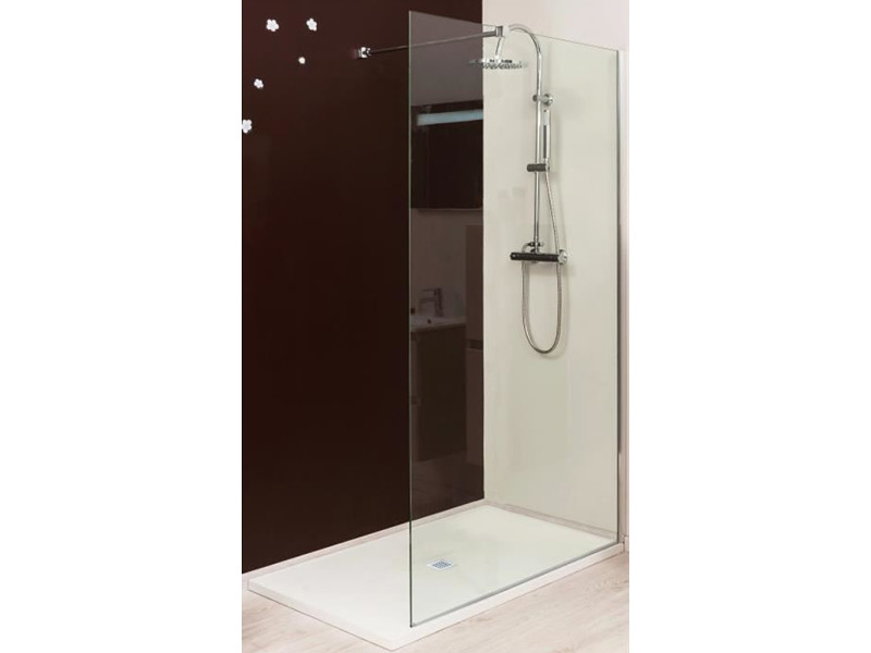 paroi douche italienne transparente 120 cm rizi vente de evidence conforama. Black Bedroom Furniture Sets. Home Design Ideas