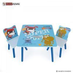 Ensemble table et 2 chaises enfant super chiot