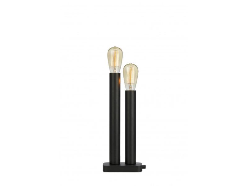 Lampe de table midtown noire 2 ampoules - Vente de LUMINAIRE CENTER� 4LUXW