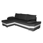 Canapé samos angle reversible droite ou gauche convertible avec coffre anthracite blanc