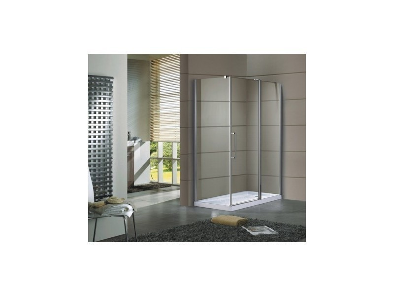 paroi de douche d 39 angle mires 140 90cm vente de azura home design conforama. Black Bedroom Furniture Sets. Home Design Ideas