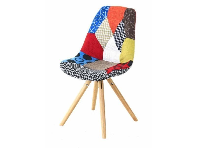 2x chaise lounge multicolore patchwork patch cha00 vente de id 39 clik conforama. Black Bedroom Furniture Sets. Home Design Ideas