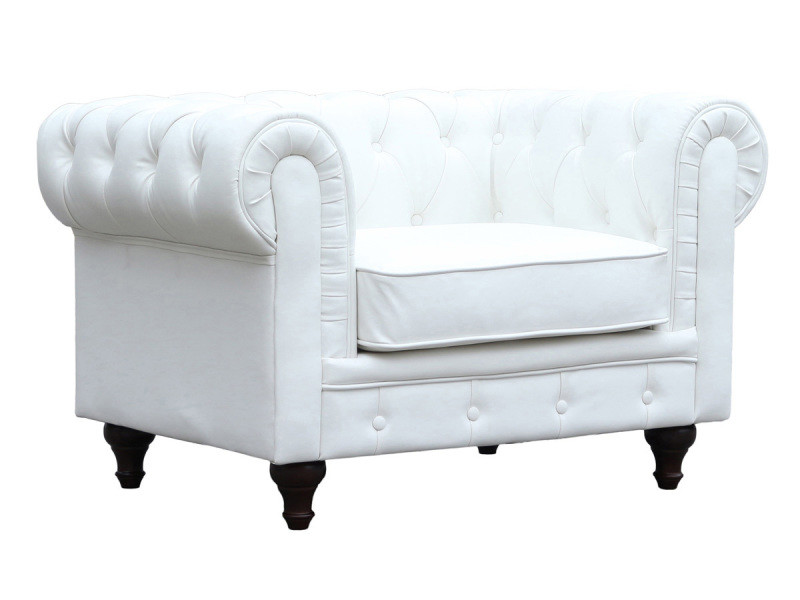 Fauteuil chesterfield velours \