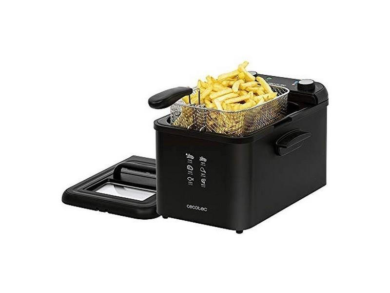 Friteuse professionnel 4l 3270w noir convient aux lave-vaisselles