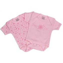 Lot de 2 body rose en coton