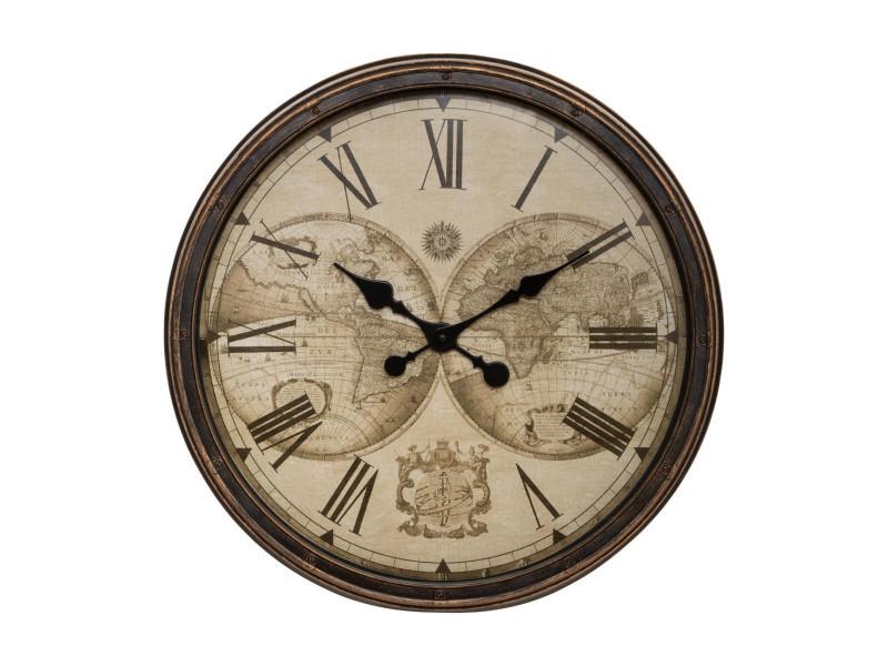Horloge murale monde voyage Hawaii MUR DECORATION Horloge vintage retro