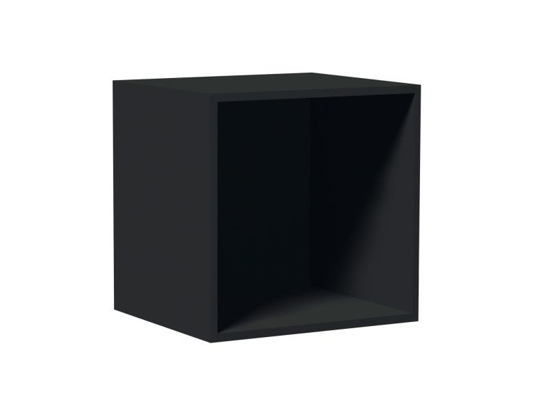 cube de rangement empilable 35 5 x 35 5 cm noir. Black Bedroom Furniture Sets. Home Design Ideas
