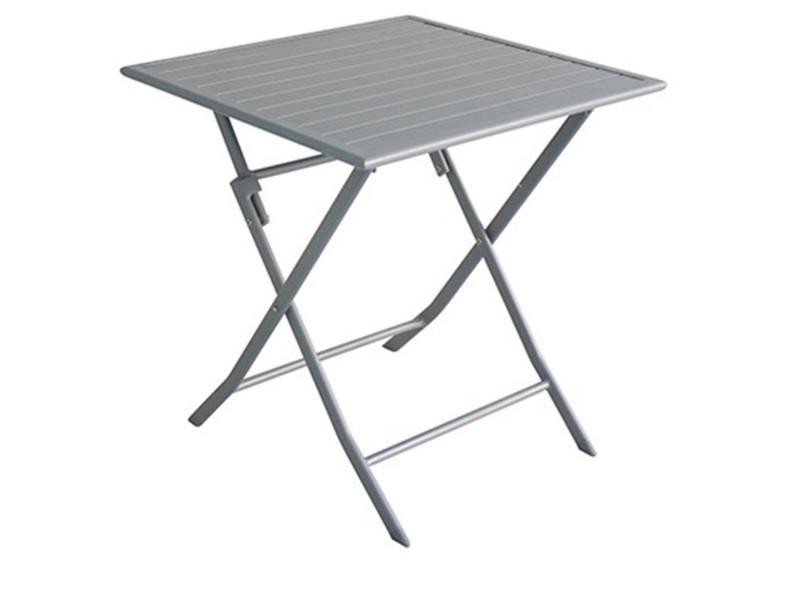 Table de jardin pliante en aluminium coloris silver - dim