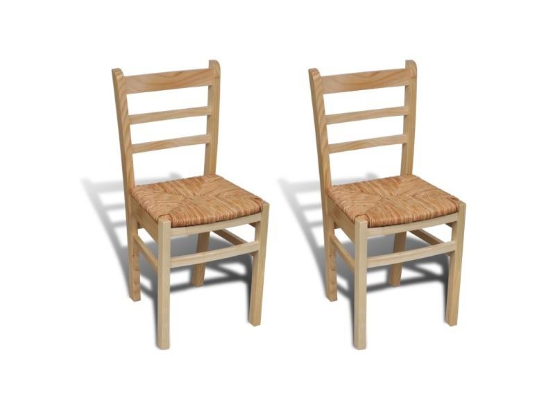 2 chaises de cuisine salon salle manger classique bois - Conforama chaises salle a manger ...