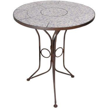 Table en c ramique et fer forg vente de table conforama - Console fer forge conforama ...
