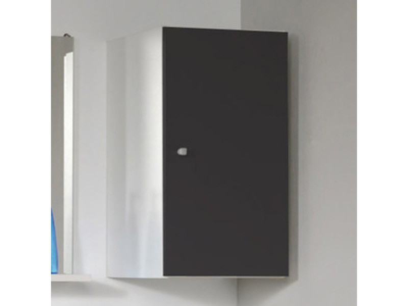 El ment haut de salle de bain blanc avec 1 porte et 1 rayon h 56 x l 29 x p 31 cm pegane - Element de salle de bain ...