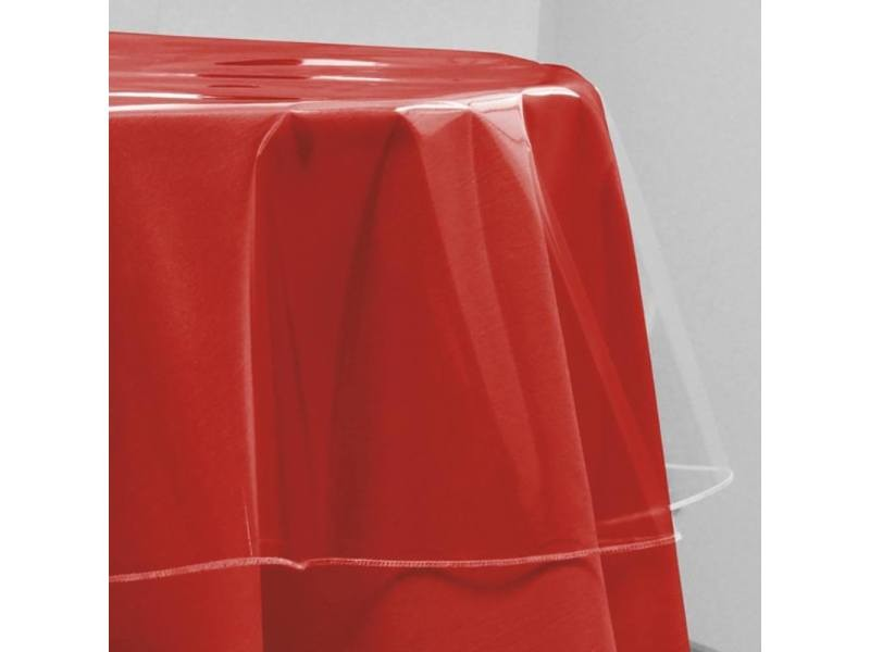Nappe ronde de protection 180 cm cristal transparent