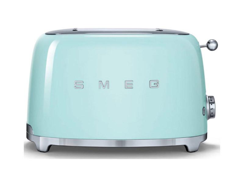 Smeg grille-pain vert d'eau 950w 2 tranches tsf01pgeu