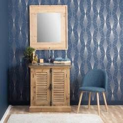 Miroir contour bois  |  y23