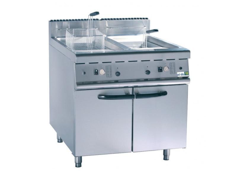 Friteuse à gaz sur coffre 2 x 20 litres - afi collin lucy -