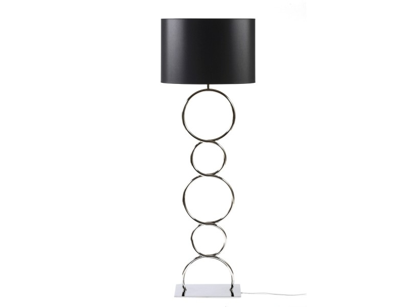 lampadaire round and round inox brillant vente de thomas de lussac conforama. Black Bedroom Furniture Sets. Home Design Ideas
