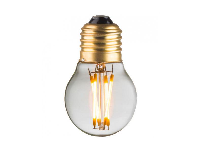 Ampoule lampe g45 e27 led filaments droits 4w classique verre clair