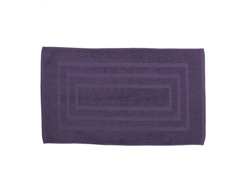 tapis de bain 50x85cm deep purple ponge 100 coton. Black Bedroom Furniture Sets. Home Design Ideas