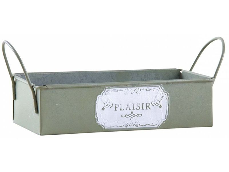 Mini corbeille rectangulaire en métal plaisir
