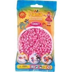 Sachet de 1000 perles hama midi : rose pastel