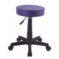 Tabouret à roulette pour coiffeur violet 2009014