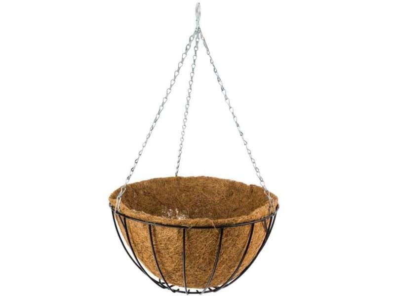 Porte plante suspendu + fibre coco 30cm