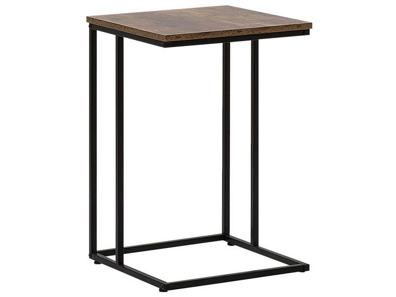 Table appoint en imitation bois foncé troy 179782