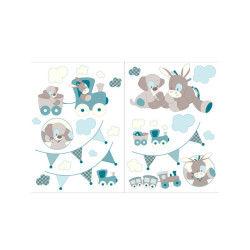 Stickers décoratifs Nattou modèle Gaston & Cyril