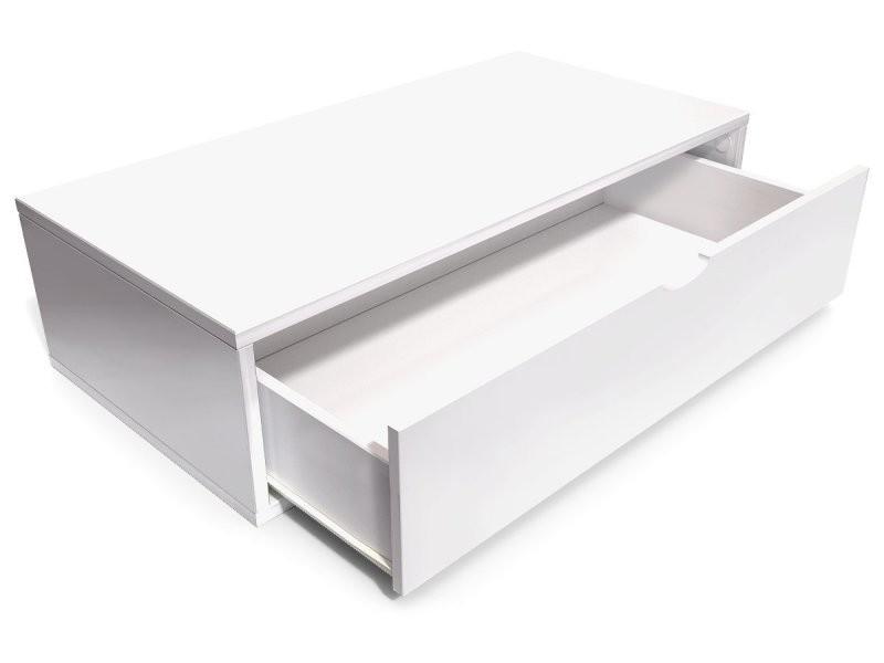 Cube de rangement 100x50 cm + tiroir blanc CUBE100T-LB - Vente de ABC MEUBLES - Conforama