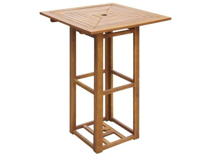 Vidaxl table de bar d'extérieur bois d'acacia 42655
