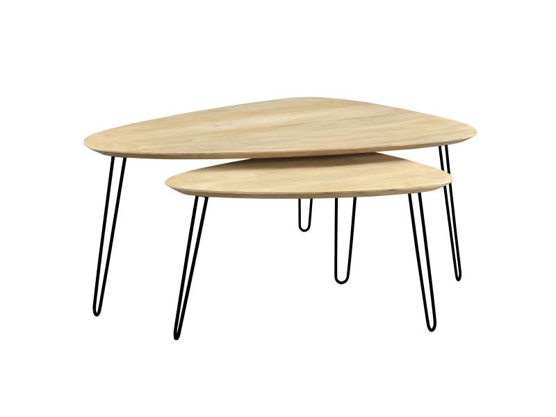 Tables Basses Gigognes Scandinaves Riga Lot De 2 Vente De Table