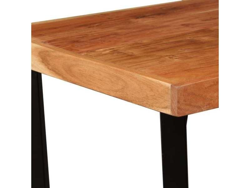 Vidaxl table de bar bois massif d'acacia 60x60x107 cm 245435