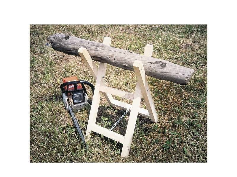 Outillage chevalet à bûches chevalet en bois, pliable idéal pour découper sans difficulté.l 35 cm x