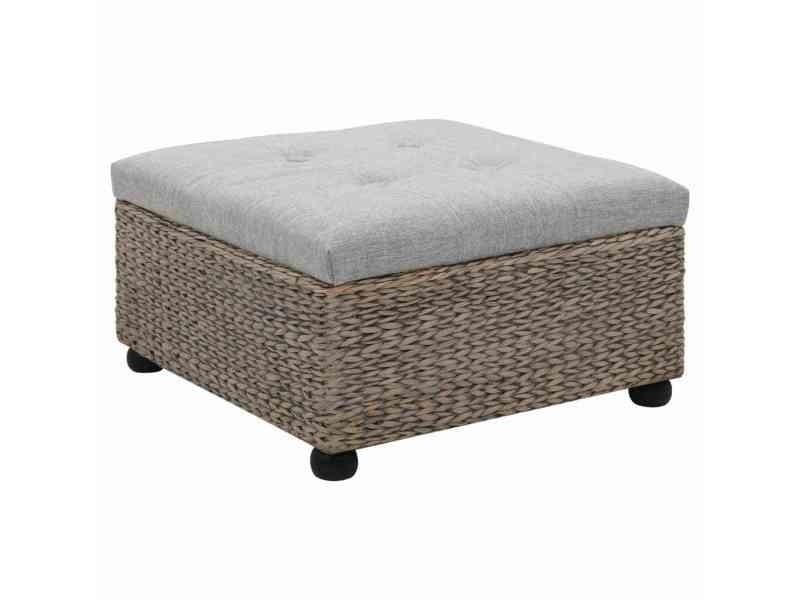 Stylé meubles ensemble bangkok repose-pieds jacinthe d'eau 65 x 65 x 40 cm gris