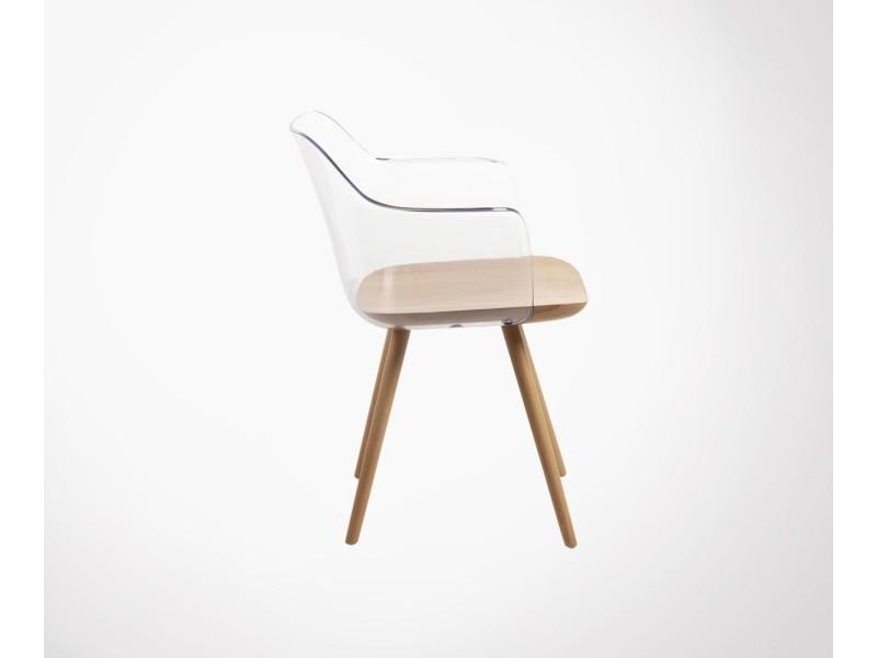 Chaise Coque Transparente Scandinave Borgo