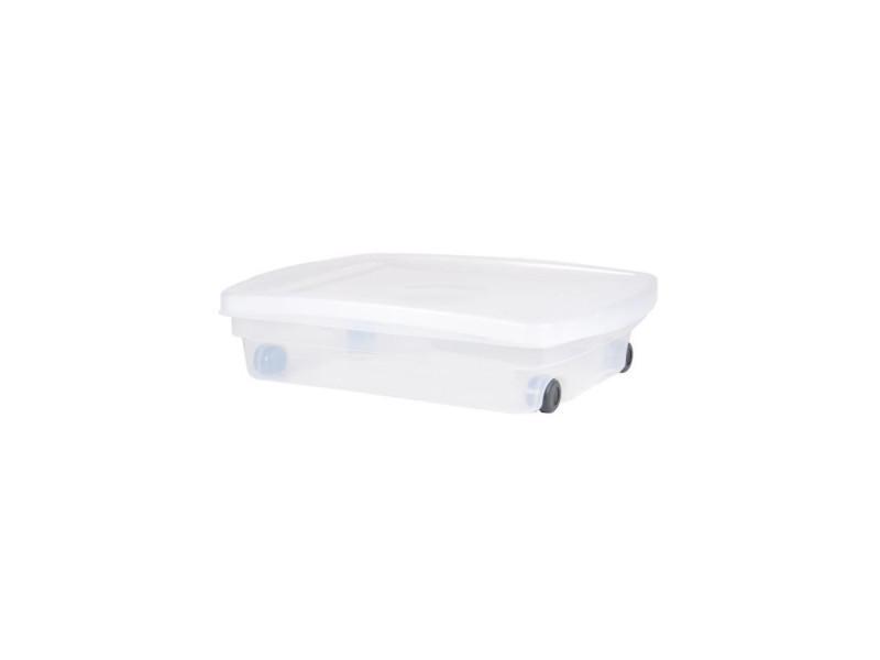 économiser f460b 0b38c Eda plastique coffre de rangement dessous de lit 40 l avec ...