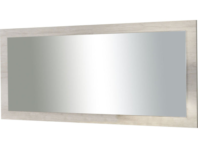 Miroir rectangulaire contemporain 180 cm coloris ch ne for Soldes miroir contemporain