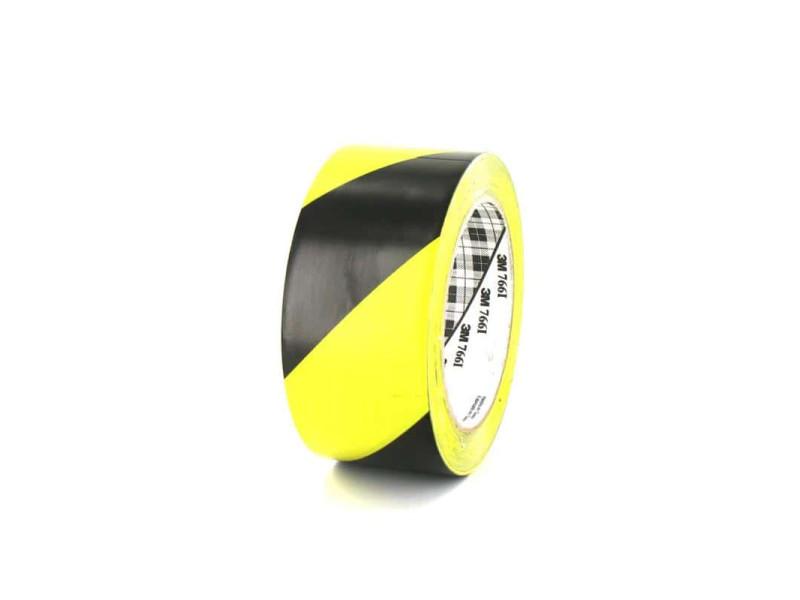 Ruban adhésif vinyle 3m 766 jaune et noir 50mm 766-50