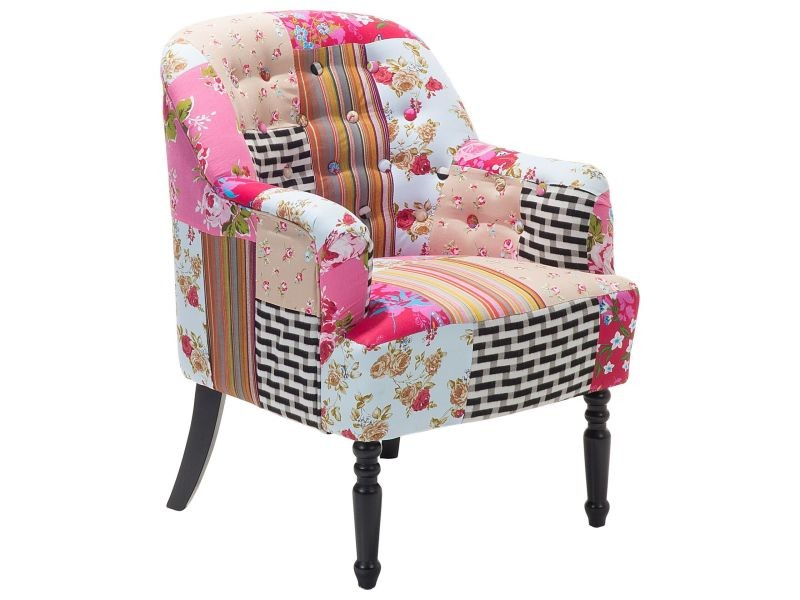 fauteuil patchwork fauteuil en tissu multicolore. Black Bedroom Furniture Sets. Home Design Ideas