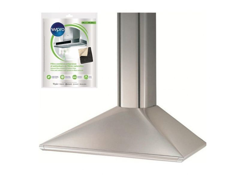 Hotte décorative pyramidale aspirante inox largeur 90cm débit d'air 570m3/h