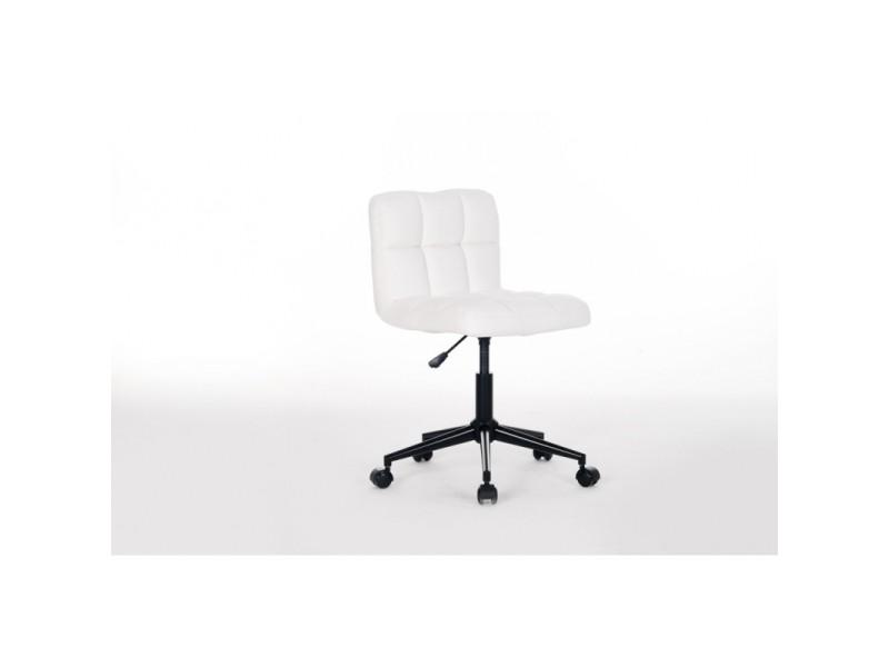 Chaise de bureau enfant design en pu blanc royal ii