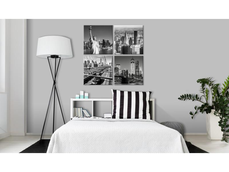 80x80 tableau new york villes esthetique faces of new york