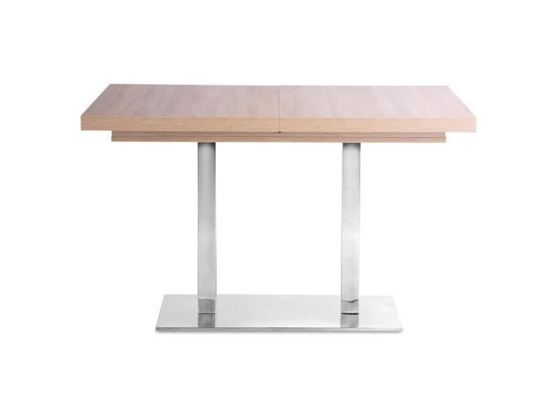 Quadrato table extensible 4 a 8 personnes melaminee style industrielle - l 120 a 200 cm 1642QUADRATO