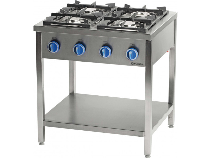 Piano de cuisson professionnel gaz sur table 4 feux - série 700 - stalgast - 24 kw gaz de ville