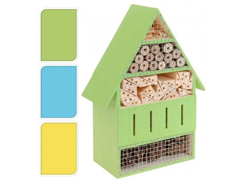 Hôtel à insectes - h 25 cm - coloris aléatoire