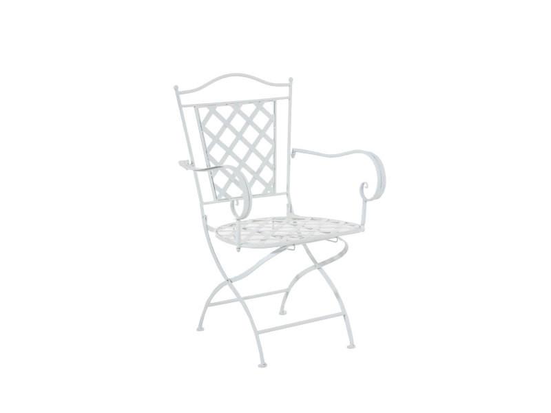 Chaise de jardin adara en fer forgé , blanc