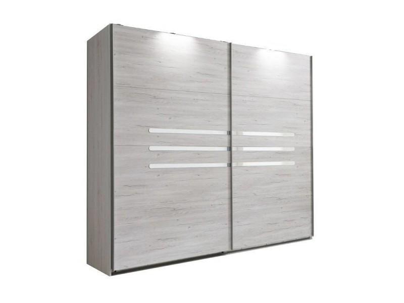 Dressing à portes coulissantes caramella coloris chêne blanc 20100866152