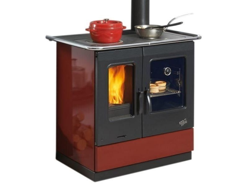 Cuisinière à bois 6.5kw rouge - 241100carmin 241100carmin