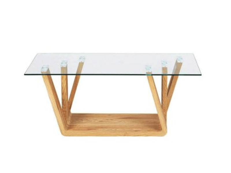 Bobochic table basse nina bois et verre
