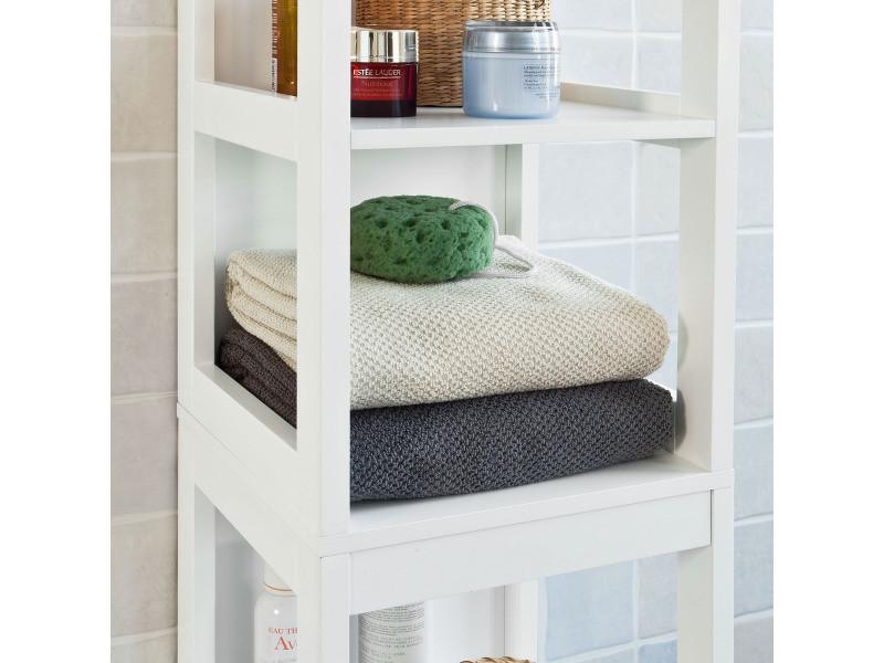 Meuble colonne de salle de bain armoire toilette haute 4 - Meuble colonne salle de bain conforama ...